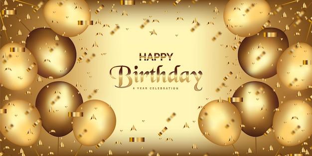 Wszystkiego najlepszego z okazji urodzin z realistycznymi balonami