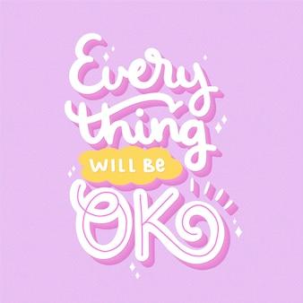 Wszystko będzie dobrze napis