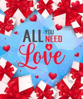 Wszystko, czego potrzebujesz, to love lettering with gifts