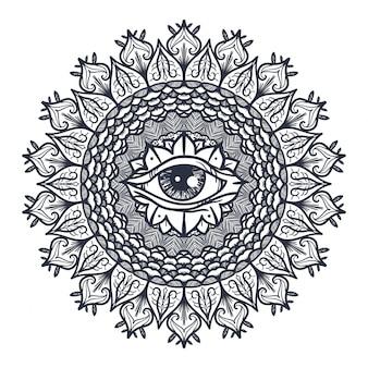 Wszystko widzące oko w mandali