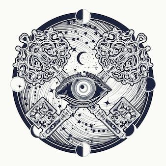 Wszystko widzące tatuaż oka