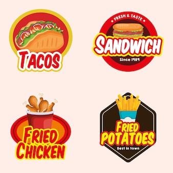 Wyśmienicie fast food ikon wektorowy ilustracyjny projekt