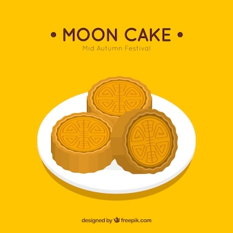 Wyśmienicie księżyc tort w połowie jesień festiwal