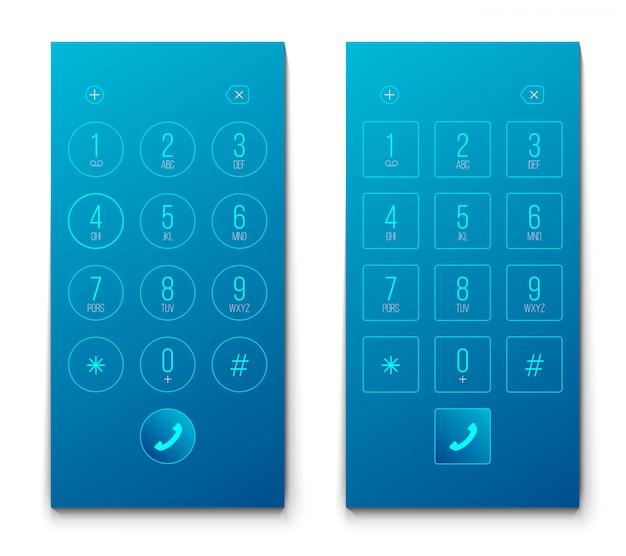 Wybieranie numeru telefonu, numery smartfonów na klawiaturze.