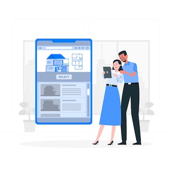 Wybierz ilustrację koncepcji domu