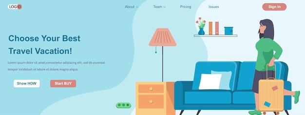 Wybierz najlepszą koncepcję baneru internetowego na wakacje