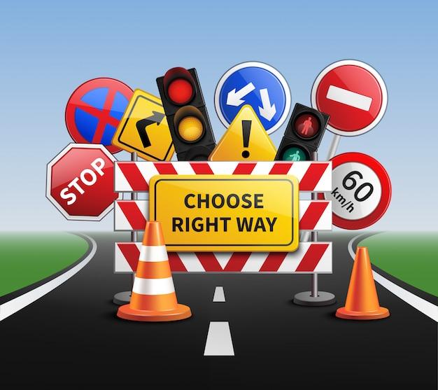 Wybierz właściwą drogę realistyczną koncepcję