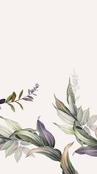 Wyblakły sztandar liści