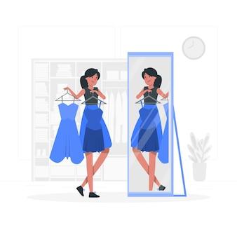 Wybór ilustracji koncepcja ubrania