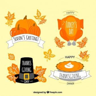 Wybór odznaki dziękczynnych