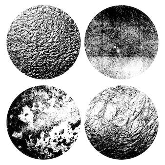 Wybór okrągłych metalicznych tekstur