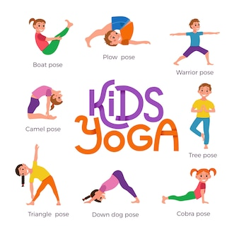 Wybór pozycji jogi dla dzieci