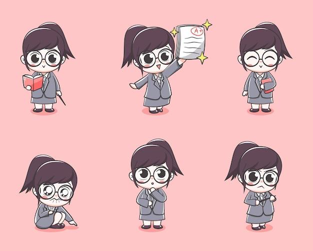 Wybór ślicznej dziewczyny nauczycielki