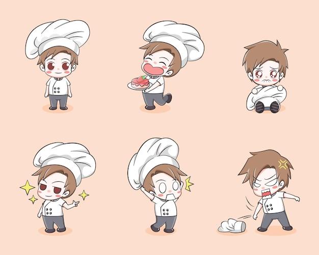 Wybór słodkiego chłopca szefa kuchni