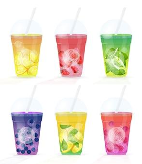 Wybór świeżych soków owocowych