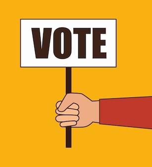 Wybory głosowania w wyborach kreskówek