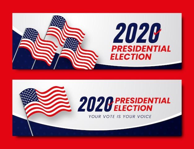 Wybory prezydenckie w usa 2020 - banery