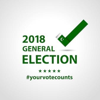 Wybory W Pakistanie 2018 Premium Wektorów