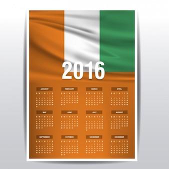 Wybrzeże kości słoniowej kalendarz 2016