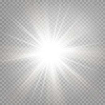 Wybuch błyszczącej gwiazdy i lśniącego blasku