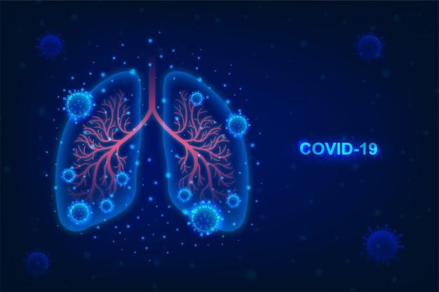 Wybuch płuc i koronawirusa oraz ochrona przed rozprzestrzenianiem się niebezpiecznego ryzyka choroby