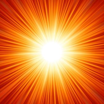 Wybuch światła, fajerwerki, rozbłysk soczewki.