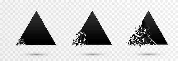 Wybuchowy baner zniszczenie kształtów png eksplozja zniszczenia postaci na małe cząstki
