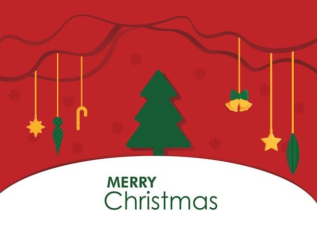Wyciąć papier świąteczny plakat wektor