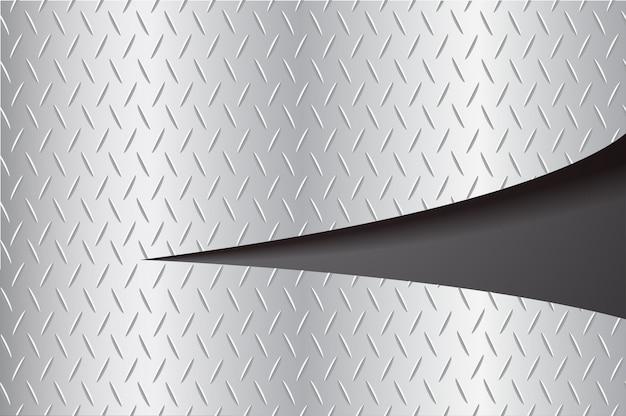 Wyciąć płytkę metal łzawienie i przestrzeń czarne tło