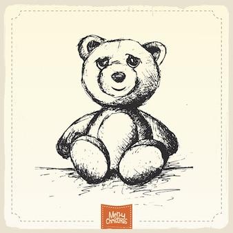 Wyciągnąć rękę christmas bear