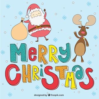 Wyciągnąć rękę christmas greeting