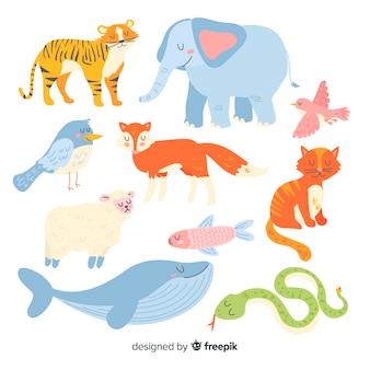 Wyciągnąć rękę cute kolekcji zwierząt