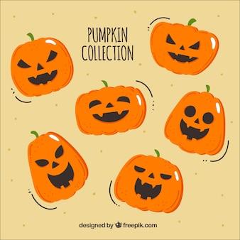Wyciągnąć rękę dynię halloween kolekcji