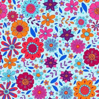 Wyciągnąć rękę groovy kwiatowy wzór
