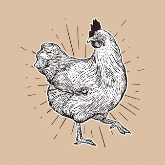 Wyciągnąć rękę kurczaka