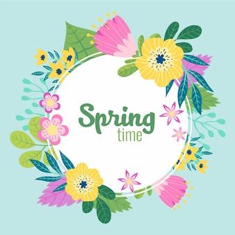 Wyciągnąć rękę kwiatowy rama wiosna