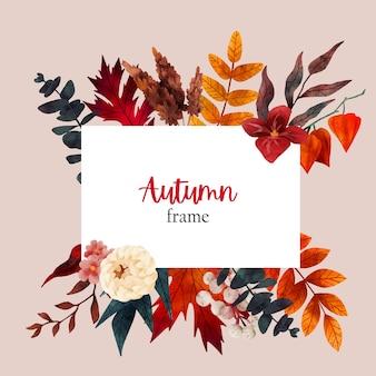 Wyciągnąć rękę szablon projektu kwiatowy baner jesienny