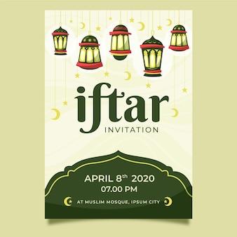 Wyciągnąć rękę zaproszenie iftar party