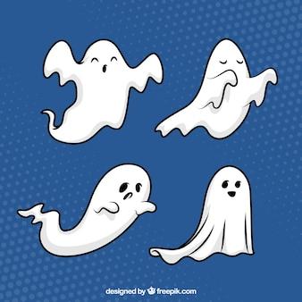 Wyciągnięte ręcznie halloween duchy