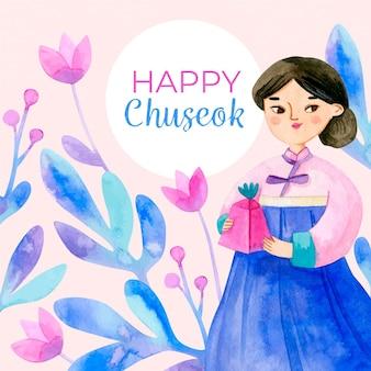 Wyciągnięty festiwal chuseok