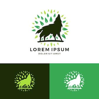 Wycie logo liść wilka