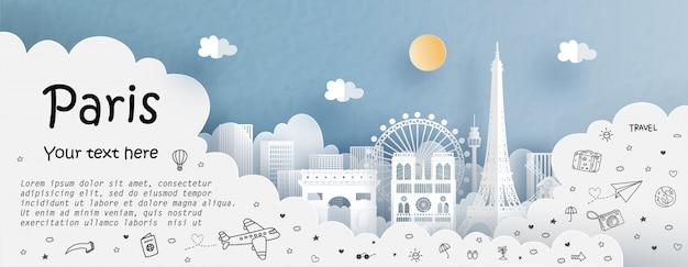 Wycieczka i podróż z podróżą do paryża