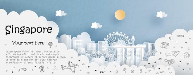 Wycieczka i podróż z podróżą do singapuru