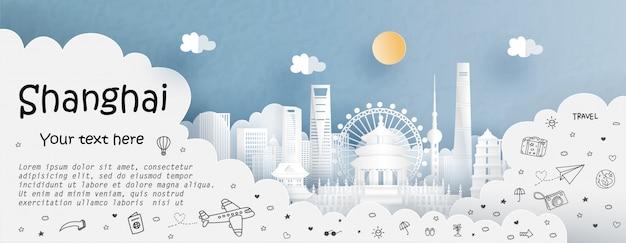 Wycieczka i podróż z podróżą do szanghaju