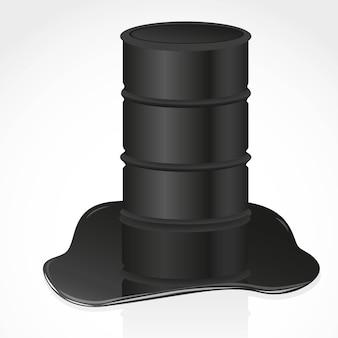 Wyciek ropy naftowej i galon