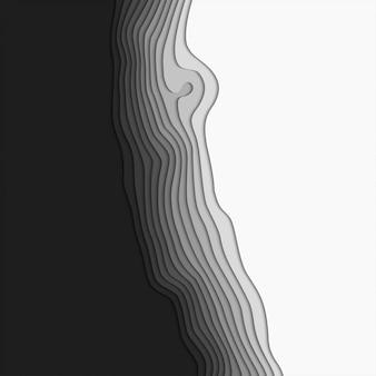 Wycinanka. poziomy gładki papier w kształcie origami