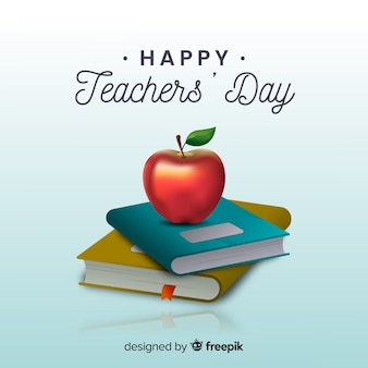 Wydarzenie dnia nauczycieli w realistycznym stylu