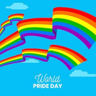 Wydarzenie pride day z flagą