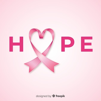 Wydarzenie świadomości raka piersi z realistyczną wstążką