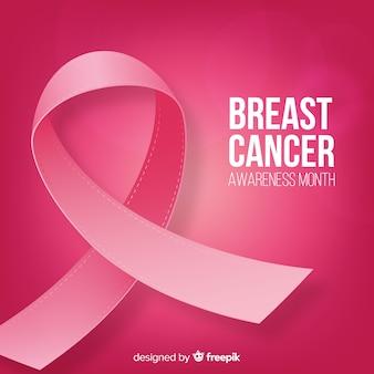 Wydarzenie świadomości raka piersi z realistycznym wyglądem